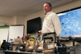HAMMER Program Manager Thom Hogg discusses radiological monitoring during a National Training Center event and NIEHS Worker Trainer's Exchange near the Hanford Site.