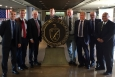 The U.K. delegation is pictured with EM and Oak Ridge National Laboratory (ORNL) officials at DOE headquarters. From left to right: Andy Worrall, the U.S. and U.K. Lab Coordinator, ORNL; Steve Thomson, Waste Management, Business Lead, NNL; John Mathieson, Head of International Relations, NDA; Rick Short, Research & Development Manager, NDA; Steve Napier, International Technical Relations, NNL; Anthony Banford, Waste Management Chief Technology Officer, NNL; Keith Miller, Head of Marketing, NNL; and EM Senior Technical Advisor Rodrigo (Rod) V. Rimando, Jr.