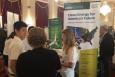 Event attendees talk to EERE representatives and read materials to learn about AMO programs and technologies sponsored by the Department of Energy.