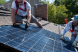 Installing solar panels requires the proper orientation and tilt, and it is best to use a professional contractor. | Photo courtesy of Dennis Schroeder, National Renewable Energy Laboratory