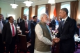 President Barack Obama and Prime Minister Narendra Modi of India talk after a working lunch in the Cabinet Room of the White House, June 7, 2016. (Official White House Photo by Pete Souza)