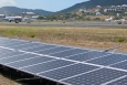 A 448-kW PV system installed at the Cyril E. King Airport on St. Thomas in April 2011. <em>Photo by Adam Warren, NREL 18953</em>