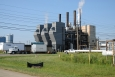A new natural gas-fired steam plant will replace an older coal-fired steam plant shown here. The new plant has the capacity to heat buildings at the Portsmouth site much more efficiently than the old coal-fired steam plant.