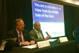 "DOE officials served as members of the ""In It To Win IT"" panel at the Reservation Economic Summit in Tulsa this month. From left to right, EM Acting Small Business Advocate Steve Sylvester, Jack Surash with EM's Office of Corporate Services, DOE Office of Small and Disadvantaged Business Utilization (OSDBU) Director John Hale III, OSDBU Deputy Director Drake Russell, Norbert Doyle with EM's Office of Corporate Services, and EM Consolidated Business Center Small Business Program Manager Anne Marie Bird."