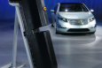 Chevy Volt and replica battery   Photo Courtesy of Argonne Lab's Flickr