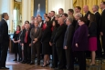 "HSS' Josh Silverman joins other 2013 ""Sammie Award"" Finalists at the White House to meet President Barack Obama.  Josh is in the back row, fifth from the right."