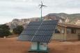 A residential solar hybrid unit. Photo from NTUA