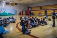 Colton Heaps, NREL Project Leader, leads a discussion during the Ute Mountain Ute Youth Energy Workshop held on July 6, 2016, at the Ute Mountain Recreation Center. Photo by Josh Bauer, NREL.