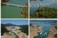 These before and after photos of Lake Oroville in Northern California show the dramatic results of extended years of drought. Funding support from the Energy Department to California's Appliance Efficiency Program is lowering flow rates for faucets and showerheads as well as helping the state maintain a nearly constant level of electricity consumption per capita despite population growth.