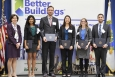 Harry Bergmann (first from right) helped the Xenergy team from the University of California at Santa Barbara win two Better Buildings Case Competition awards. Harry is now working as a project manager for The Energy Coalition.