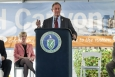 U.S. Congressman Joe Wilson addresses attendees at the H Canyon 60th anniversary event. In the background are, from left, Savannah River Site Manager Jack Craig, Savannah River Nuclear Solutions President and CEO Carol Johnson, and EM's Tank Waste and Nuclear Material Deputy Assistant Secretary Ken Picha.