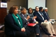Participants in the session on Advisory Board contributions to the EM program included, left to right, Karen Guevara, Savannah River Site; Ralph Phelps, Northern New Mexico Citizens' Advisory Board; Cate Alexander, EM; Eric Roberts, EHI Consultants; Dave Adler, Oak Ridge site; and Ralph Young, Paducah Citizens Advisory Board.