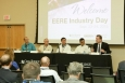 James White, Rod Stucker and James Rowland, winners of DOE's inaugural Buildings Crowdsourcing Community Campaign, joined GE Appliance's Venkat Venkatakrishnan and DOE Assistant Secretary David Danielson for a panel discussion at EERE Industry Day at ORNL. Image: ORNL.
