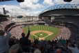 By installing a rooftap solar array at Safeco Field, the Seattle Mariners is reducing its carbon footprint and saving money.   Photo courtesy of the Green Sports Alliance.