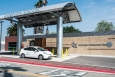 A fuel cell electric vehicle (FCEV) at a fueling station in California. New Energy Department reports signal rapid growth in America's fuel cell and hydrogen industry as FCEVs are introduced to the market. | Energy Department photo