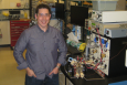 Brian Larsen is developing the next generation of fuel cell catalysts thanks to the Energy Efficiency and Renewable Energy Postdoctoral Research Awards. | Photo courtesy of Dr. Guido Bender, NREL.