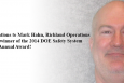 Ronnie L. Alderson of Nevada Field Office presented 2012 Safety System Oversight Annual Award