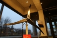 A Pika Energy wind turbine is the newest addition to the Department of Energy's headquarters lobby in Washington, D.C. | Photo by Mike Mueller, The Hannon Group