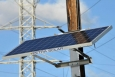 SunWave solar power systems are attached to utility poles, where they can gather sun power as well as provide a point of data gathering for utility companies to monitor the grid.   Photo courtesy Petra Solar