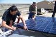 Students and instructors at Oglala Lakota College designed, connected and built a mobile solar energy system over the course of two days.   Photo courtesy of Oglala Lakota College.