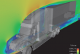 Using computer modeling technology from Lawrence Livermore National Laboratory (LLNL), truck manufacturer Navistar is able to improve vehicle fuel efficiency and durability without the expense of wind tunnel testing. | Photo courtesy of LLNL Livermore Valley Open Campus.