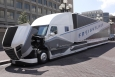 "Freightliner's SuperTruck, which improved Class 8 truck efficiency by 115%. The National Academy of Sciences reported the four SuperTruck projects are ""impressive"" and will ""significantly reduce the fuel consumption of Class 8 tractor-trailer vehicles."""
