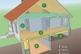 Where to Insulate. Adding insulation in the areas shown here may be