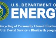 Department of Energy (DOE) employees may use the U.S. Postal Service's BlueEarth program to mail-in their personally owned electronics and accessories for free recycling.