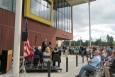 The community of Vernonia, Oregon, celebrates the opening of a new energy efficient school. | Photo courtesy of April Baer, OPB.
