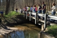 Students from Carla Evans' Advanced Environmental Science class at Ohio's Waverly High School visit Lake Hope State Park as part of educational activities included within the ASER Summary Project.