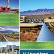 Image of the cover of the 2013 Geothermal annual report.