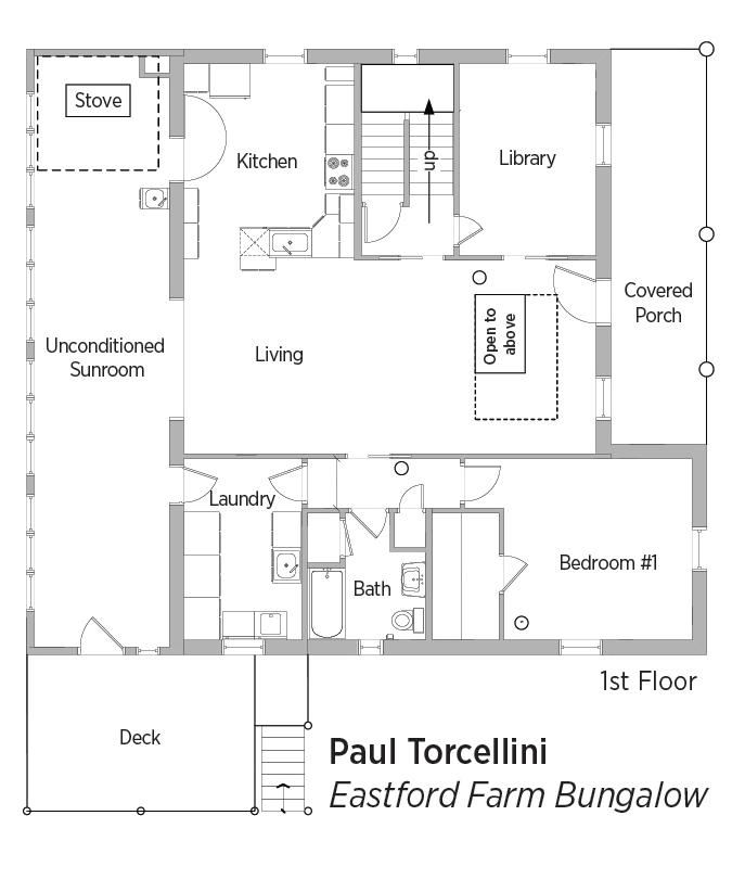 doe tour of zero  eastford farm bungalow by paul torcellini